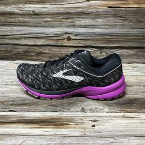Brooks Launch 5 Women's Shoes Black/Purple/Print
